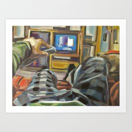 Complacency, Television Art Print