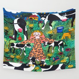 PRINCES WITH COWS Wall Tapestry