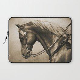 Western Quarter Horse Old Photo Effect Laptop Sleeve