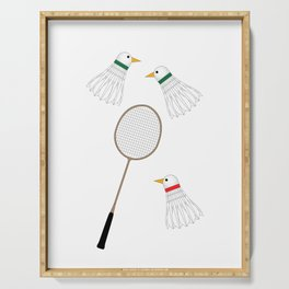 Badminton Cock Shuttles Serving Tray