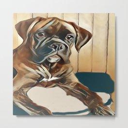 The Boxer Pup Metal Print