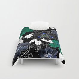 Botanical Bliss Black Comforters