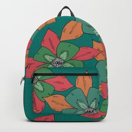 Bright Sketch Hand Drawn Flowers Illustrated Pattern Backpack