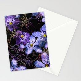 Delicate spring blossom of liverleaf Stationery Cards