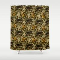 botanical Shower Curtains featuring botanical by Vanyu Krastev