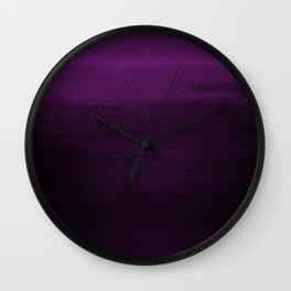 Moody Purple Plum Watercolor Wall Clock