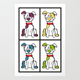 Pitbull / Bully Breed Print Art Print