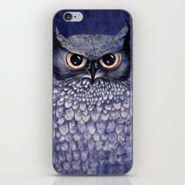 La Sagesse du Hibou (The Blue Owl) iPhone Skin
