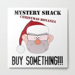 A Mystery Shack Christmas Metal Print