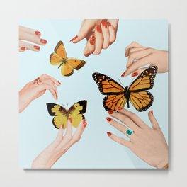Social Butterflies Metal Print