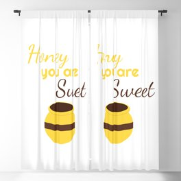 Honey you're sweet Blackout Curtain