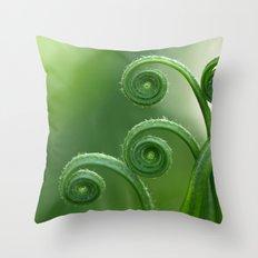 Ancient Ferns... Throw Pillow