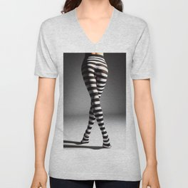 Sexy legs Unisex V-Neck
