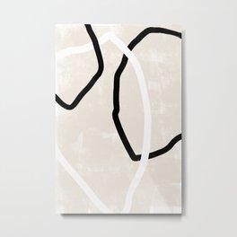 Abstracto Trio Metal Print