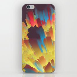 Glowing City iPhone Skin