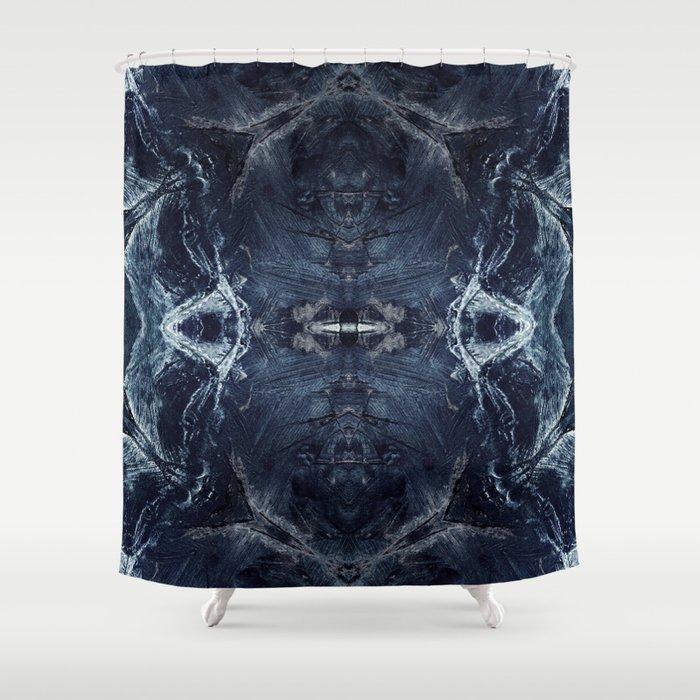 Blue angel pattern Shower Curtain