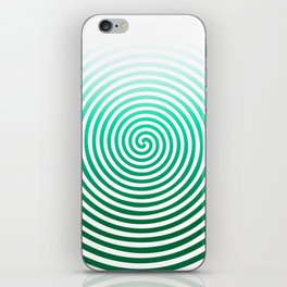 White Green Swirl iPhone Skin