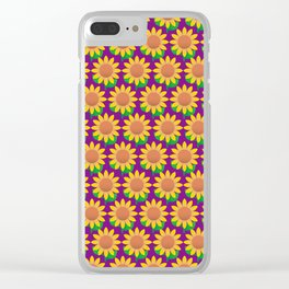 Sunflower Pattern_G Clear iPhone Case