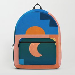 Abstraction_NEW_SUN_MOON_ARCHITECTURE_POP_MINIMALISM_09DD Backpack