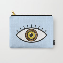 Evil Eye on blue Carry-All Pouch