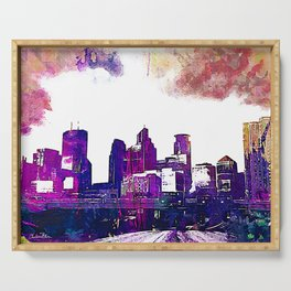 Minneapolis, Minnesota Skyline Serving Tray