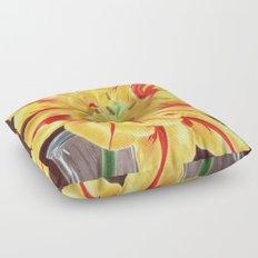 Tinge of Red Floor Pillow