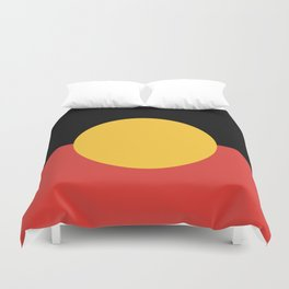 Australian Aboriginal Flag Duvet Cover