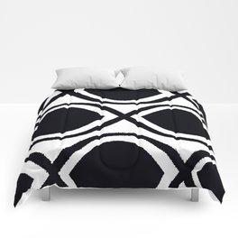 BLACK AND WHITE RANDOM GRAPHIC Comforters
