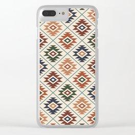 Aztec Symbol Pattern Col Mix Clear iPhone Case