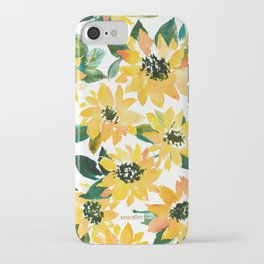 SUNFLOWER POWER Yellow Floral iPhone Case