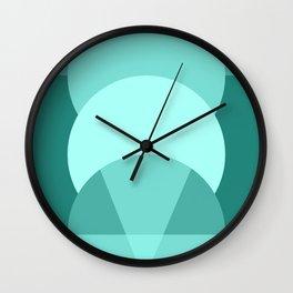 Mint Green Triangle Geometric Ice Cream Wall Clock