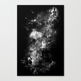 I'll wait for you black white version Canvas Print