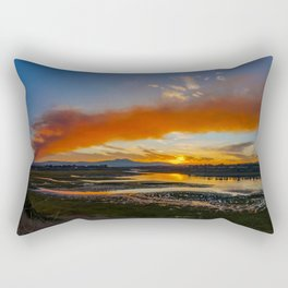 Smoky Sunrise Over the Back Bay Rectangular Pillow