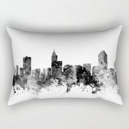 Raleigh North Carolina Skyline Rectangular Pillow