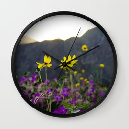 Wildflower Sunset Wall Clock