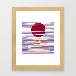Abstract transparencies Framed Art Print
