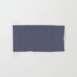 Butterfly Illustration // Geometric Butterfly Pattern // Dark Navy Blue and White Hand & Bath Towel