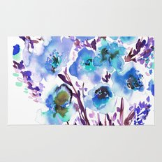 Bouquet Blue Rug