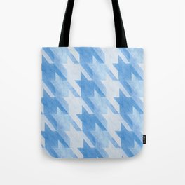 Blue Monochrome Houndstooths Tote Bag
