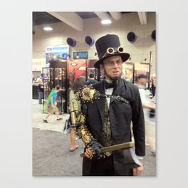Steampunk Abraham Lincoln Vampire Hunter Canvas Print