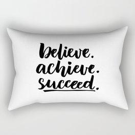 Believe.achieve.succeed Rectangular Pillow