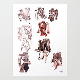 18th C. bodice nation Art Print