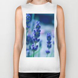 A Touch of blue - Lavender #1 Biker Tank