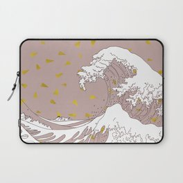 Rolling Waves in Gold Laptop Sleeve