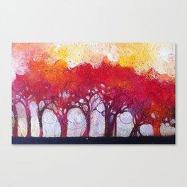 Alberi nel bosco Canvas Print