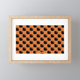 Halloween Black Cat Framed Mini Art Print
