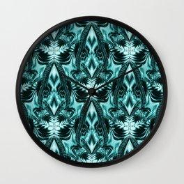 Le Fleurs en Turquoise Wall Clock