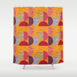 Pattern orange red rose 2 Shower Curtain
