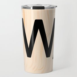 Scrabble Letter W - Scrabble Art and Apparel Travel Mug