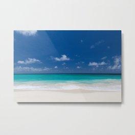 Peaceful Turquoise Blue Ocean Seascape Metal Print